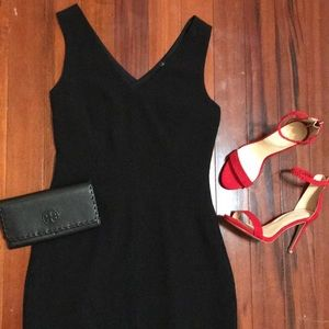 Banana republic black midi dress
